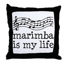 Marimba is My Life Music Gift Throw Pillow