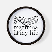 Marimba is My Life Music Gift Wall Clock