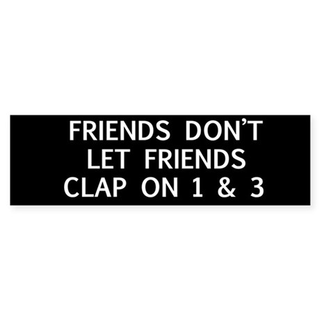 clap1 Bumper Sticker