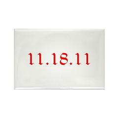 11.18.11 Twilight! Rectangle Magnet