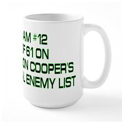 Sheldon's Mortal Enemy List Large Mug