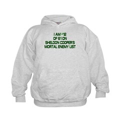 Sheldon's Mortal Enemy List Kids Hoodie