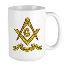Masonic Faith Hope Charity Emblem Mug