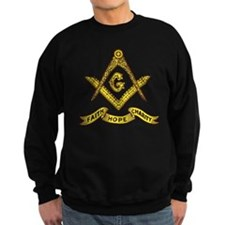 Masonic Faith Hope Charity Emblem Dark Jumper Sweater