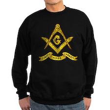 Masonic Faith Hope Charity Emblem Dark Sweatshirt