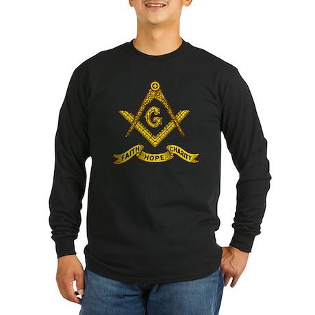Masonic Faith Hope Charity Emblem Long Sleeve T