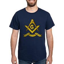 Masonic Faith Hope Charity Emblem Fitted T-Shirt
