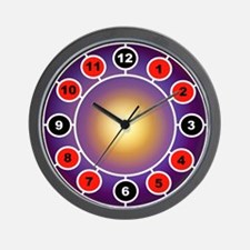 red black clock art