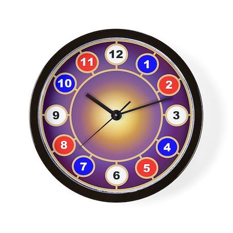 red white blue clock art