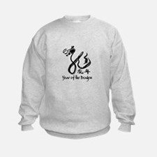 Year of the Dragon Black Calligraphy Sweatshirt