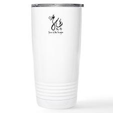 Year of the Dragon Black Calligraphy Travel Mug