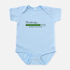 Thinking, Please be Patient Infant Bodysuit