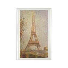 Eiffel Tower by Seurat Rectangle Magnet