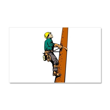 power lineman repairman Car Magnet 20 x 12