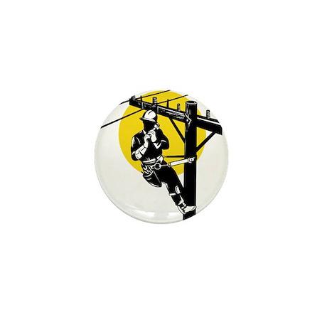 power lineman repairman Mini Button (100 pack)