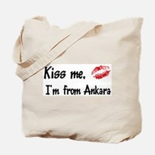 Kiss Me: Ankara Tote Bag