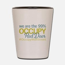 Occupy Red Deer Shot Glass