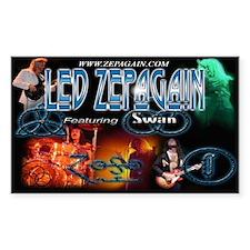 Led Zepagain Rectangle Decal
