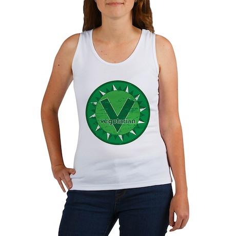 Vegetarian Green Logo Women's Tank Top