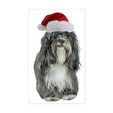 Tibetan Terrier Christmas Decal