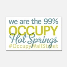 Occupy Hot Springs National P Car Magnet 20 x 12
