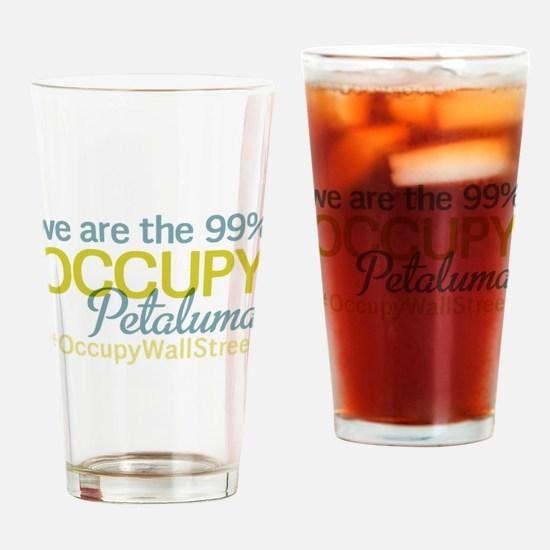 Occupy Petaluma Drinking Glass