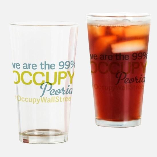 Occupy Peoria Drinking Glass