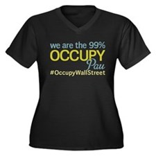 Occupy Pau Women's Plus Size V-Neck Dark T-Shirt