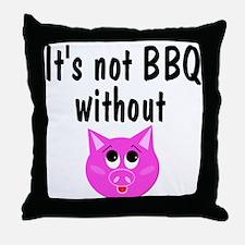 Pork BBQ Throw Pillow