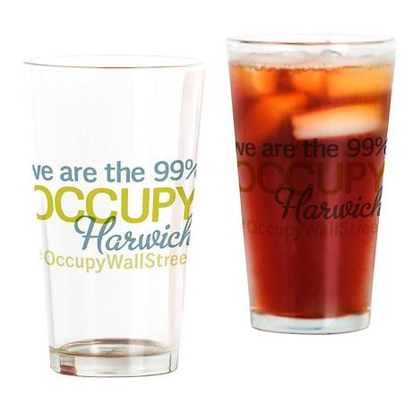 Occupy Harwich Drinking Glass