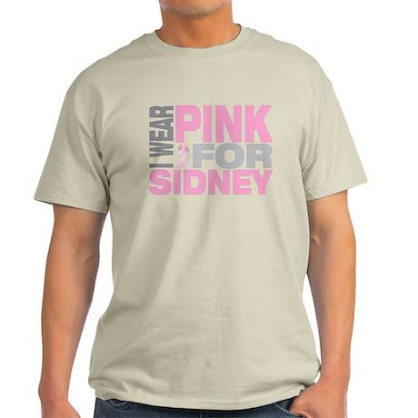 I wear pink for Sidney Light T-Shirt