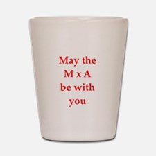 funny physics joke Shot Glass