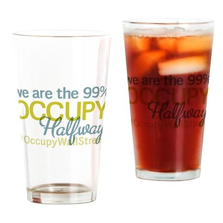 Occupy Halfway Drinking Glass