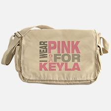 I wear pink for Keyla Messenger Bag