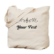 Personalized Music Border Tote Bag