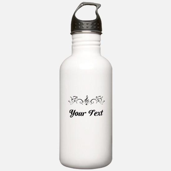 Personalized Music Border Water Bottle
