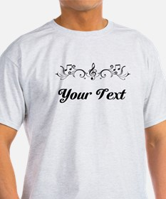 Personalized Music Border T-Shirt