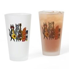 Jazz Cats Drinking Glass