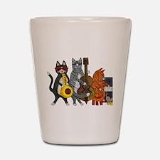 Jazz Cats Shot Glass