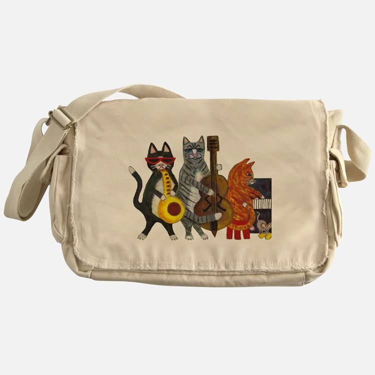 Jazz Cats Messenger Bag