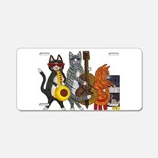 Jazz Cats Aluminum License Plate