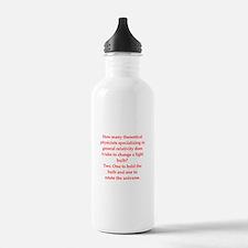 funny physics joke Sports Water Bottle