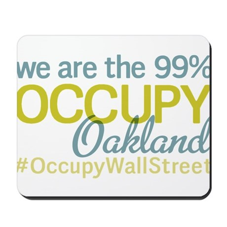 Occupy Oakland Mousepad