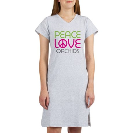 Peace Love Orchids Women's Nightshirt
