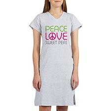 Peace Love Sweet Peas Women's Nightshirt