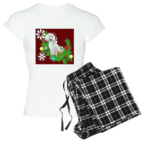 Poodle christmas Women's Light Pajamas