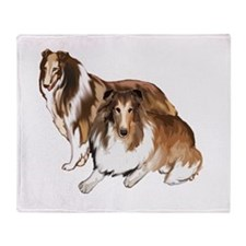 two collies Throw Blanket