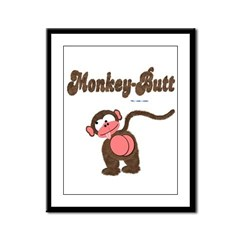 Monkey-Butt Framed Panel Print