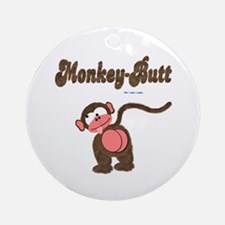 Monkey-Butt Ornament (Round)