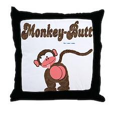Monkey-Butt Throw Pillow